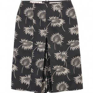 MARNI A-Line Skirt with Bow Detail in Black White